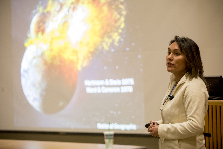Professor Sarah Stewart gives a seminar
