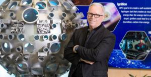 HEDS Center Director Frank Graziani poses in the National Ignition Facility visitor's center
